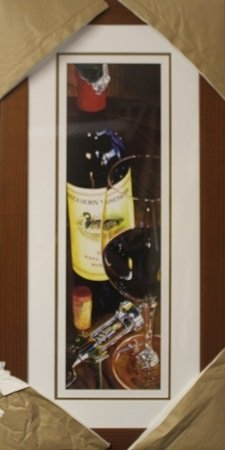 """Lithograph """"duckhorn Wineyards"""""""