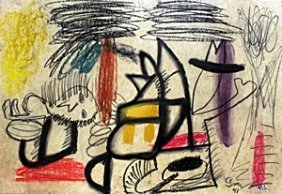 The Enigma - Pastel On Paper - Arshile Gorky