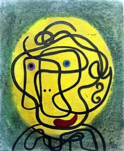 Portrait Of A Woman - Pastel And Oil - Paul Klee