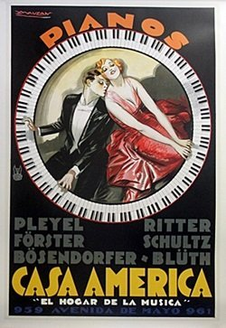 Poster - Pianos - Mauzan