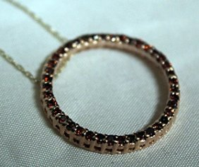 Rare 14kt Red Diamonds Necklace