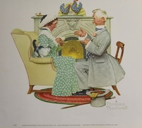 Print Four Ages Of Love - Norman Rockwell