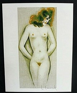 """Lithograph """"little Breast"""" After Louis Icart"""