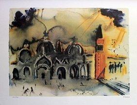 Lithograph - Hommage Venice - Salvador Dali
