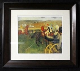 "Lithograph ""at The Races"" By Edgar Degas"