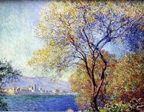 """view Of Salis"" By Claude Monet"
