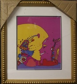 Framed Lithograph After Peter Max