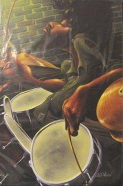"""Giclee On Canvas """"drummer"""" After Garibaldi"""
