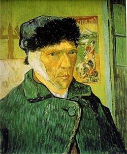 Lithograph Self Portrait With Bandaged Ear - Vincent
