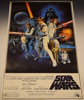 1977 Original Star Wars Movie Poster
