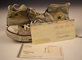 Kurt Cobain's Checkbook, Converse Shoes