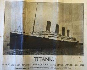 1912 Original Rms Titanic Poster