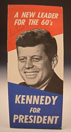John F. Kennedy Signed Presidential Campaign Brochure