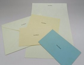 Eva Braun Hitler Calling Cards, Stationary Envelopes