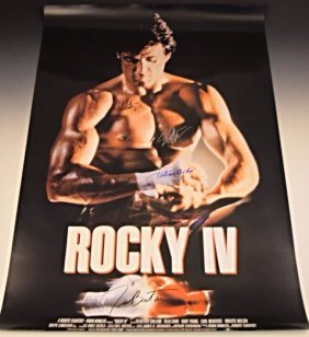 Rocky Cast Signed Movie Poster