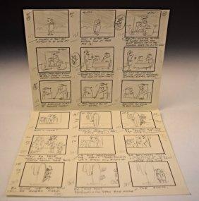Hanna-barbera Flintstones Comic Sketches
