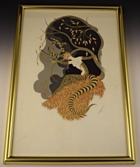 Erte Signed Lithograph