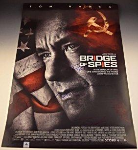 Bridge Of Spies Cast Signed Premiere Poster