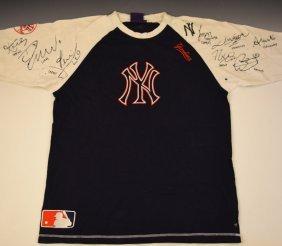 Yankees Jersey Signed By Lebron, Kobe, Jeter, Etc