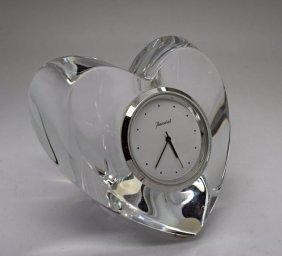 Baccarat Crystal Clock