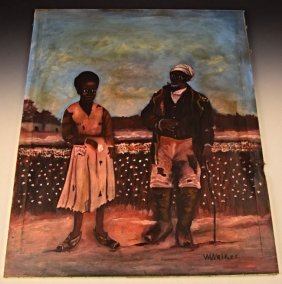 Black Americana Oil Painting