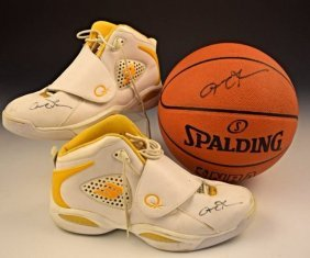 Allen Iverson Game Worn Signed Shoes
