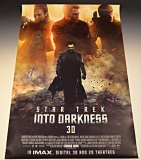 Star Trek Cast Signed Movie Poster