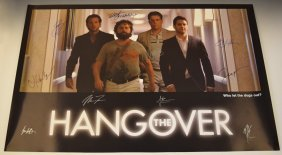 The Hangover Cast Signed Movie Poster