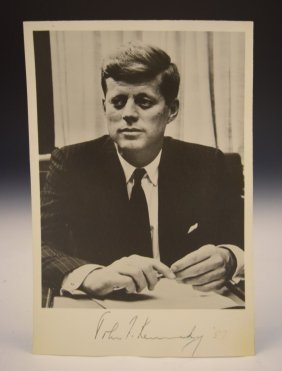 President John F. Kennedy Signed Photograph