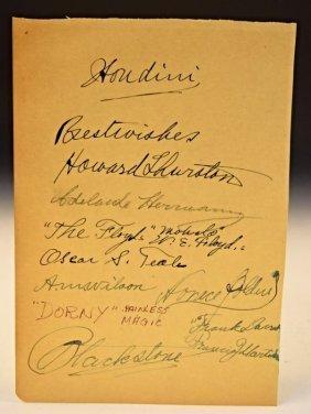 Magicians Banquet Signed Program