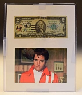 Elvis Presley Signed $2 Bill