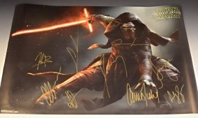 Star Wars Cast Signed Movie Poster