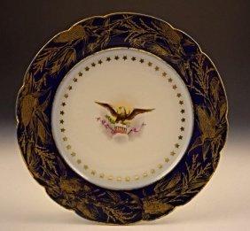 President Benjamin Harrison White House Dinner Plate