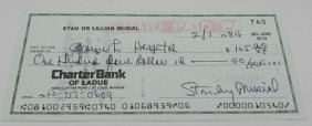 Stan Musial Signed Check