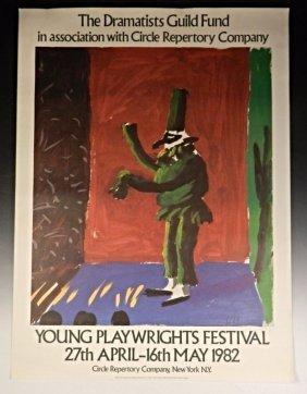 David Hockney Signed Poster