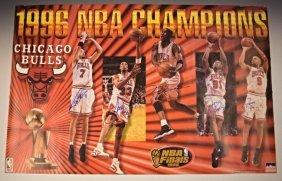 1996 Chicago Bulls Signed Poster