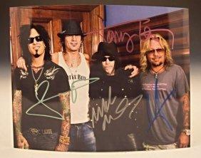 Motley Crue Signed Photo