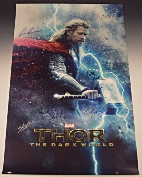 Thor Cast Signed Movie Poster