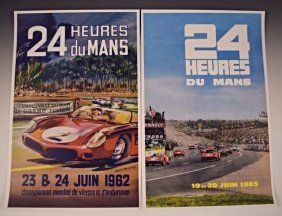 Vintage Ferrari Advertising Race Posters