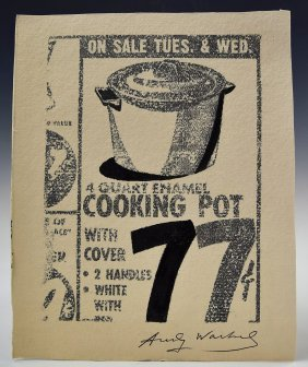Andy Warhol Signed Cooking Pot