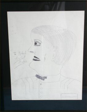 Lee Godie-Untitled- Pen On Paper. 29 X 34 �Provenan