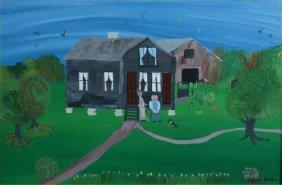 Lillian Barker -Untitled-. Paint On Canvas Board. 2