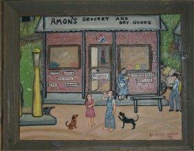 "Genevieve Adkins Wilson-Outsider Art-""Amons Grocery"