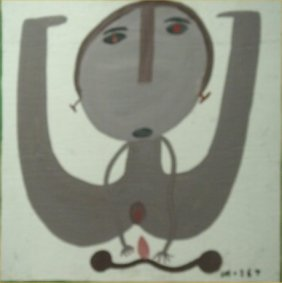 "Mose Tolliver-Outsider Art-""Bicycle Man"" Mud On Boa"