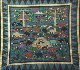 Tennesse/Vietnam-Outsider Art- Framed Tapestry   D
