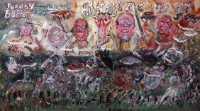 "William Thomas Thompson-""Atomic Energy"". Paint On C"
