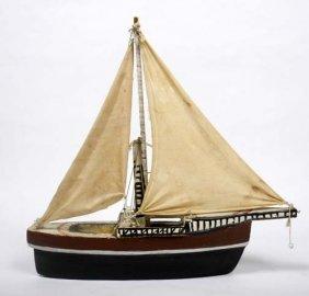 """Hubert Walters-""""Sailboat"""". Piece Is 22 X 4 1/2 X 21"""