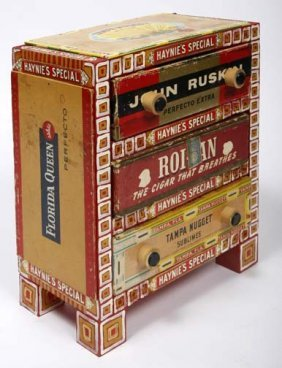 "Elayne Goodman-""Tampa Nuggets Chest"". Cigar Box Con"