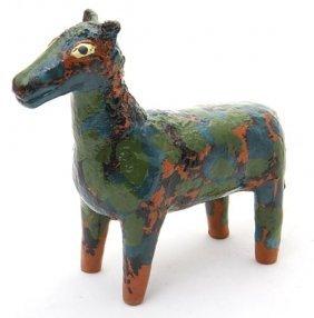 "Ellen Martin, ""Mottle Horse""  Fired And Glaze Potter"