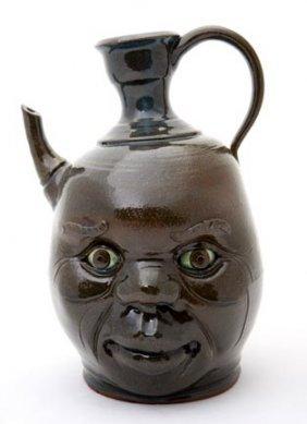 "Yvette Lepley, ""Teapot Face Jug""  Fired And Glazed"